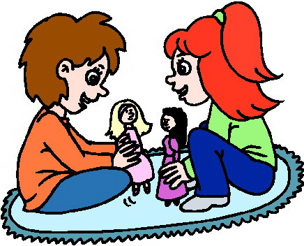 Playing Doll Clipart.