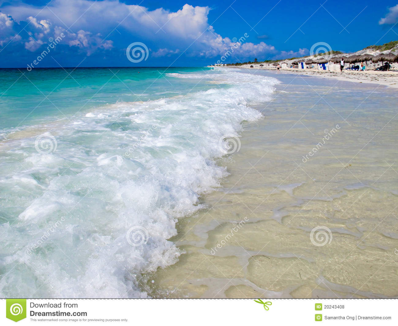 Playa Blanca (Beach), Cayo Largo, Cuba Royalty Free Stock Photos.