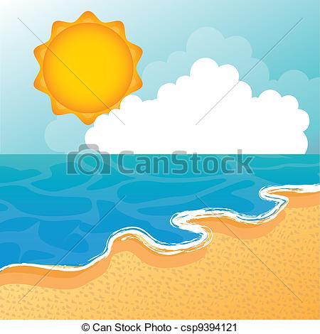 Vector Clip Art of beach vector.
