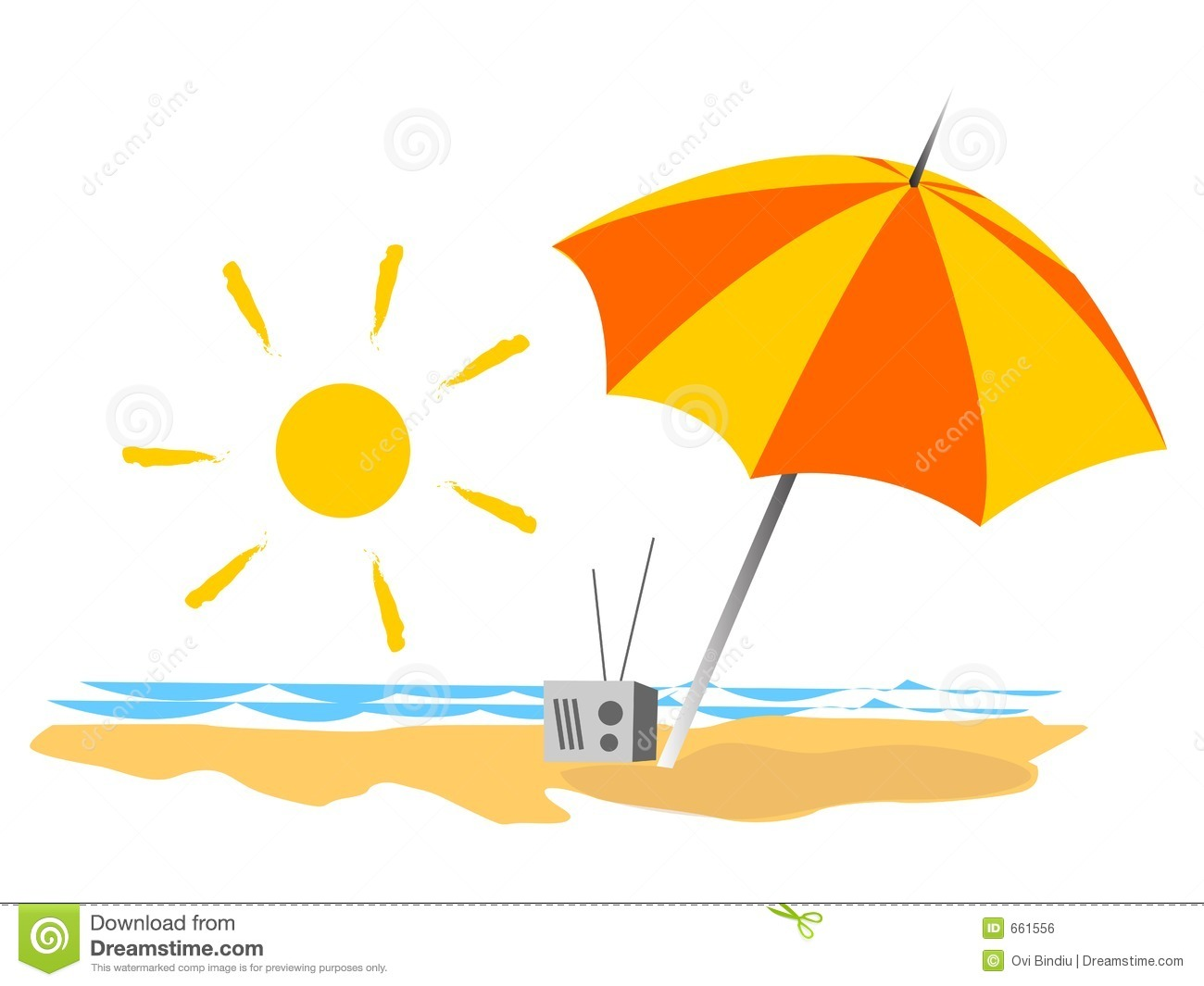 Summer beach clipart - Clipground