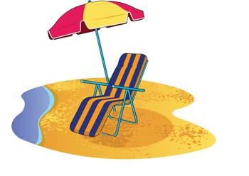 Playa Clip Art, Playa de vectoriales.