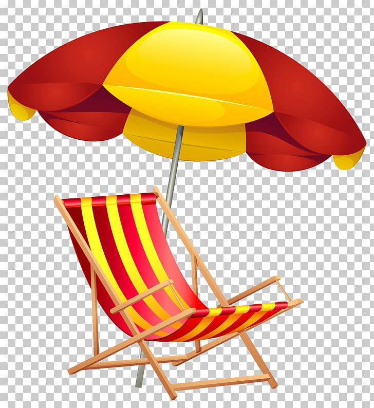 Sombrilla de playa, silla de playa PNG Clipart.