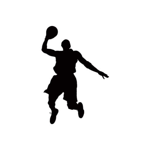 Basketball player clip art.