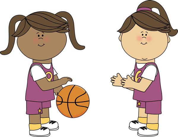 Girl Basketball Player Clipart.