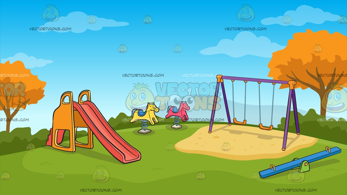 cartoon playground background.