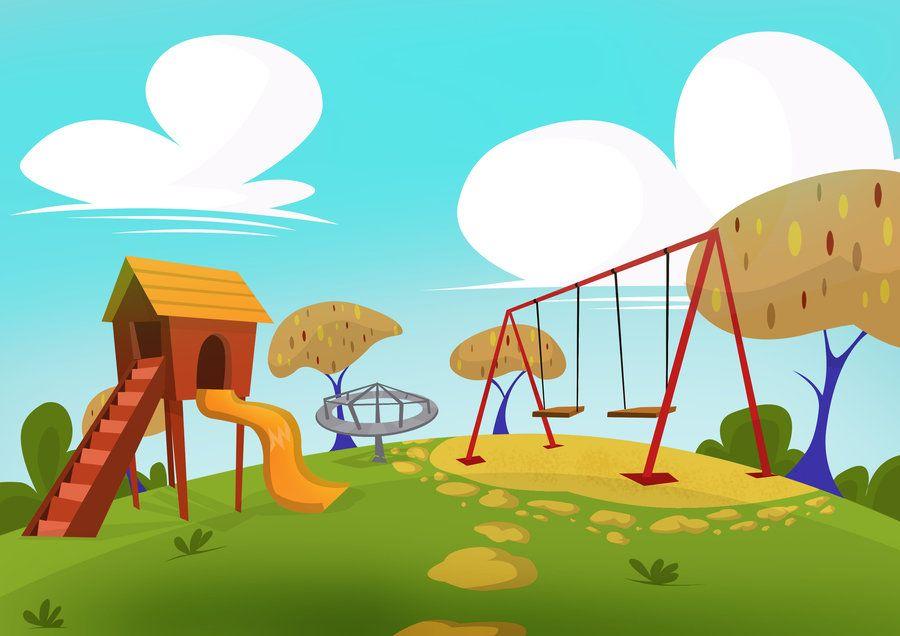 cartoon park backdrop.