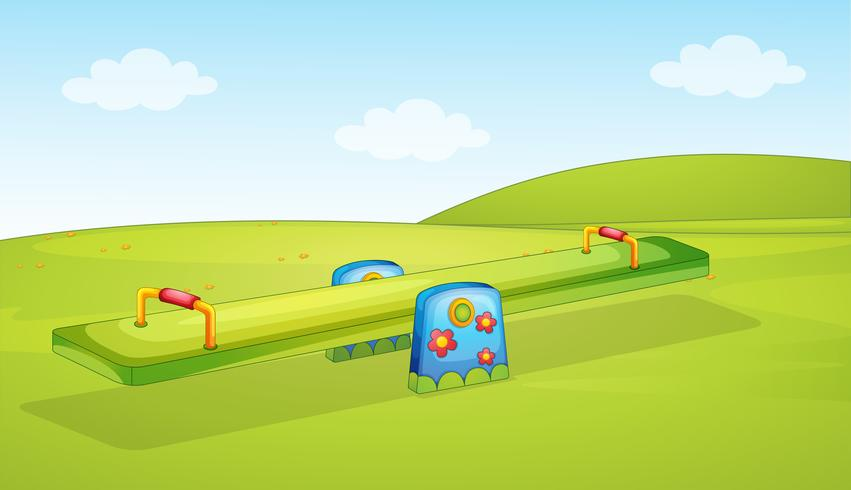 A seesaw playground background.