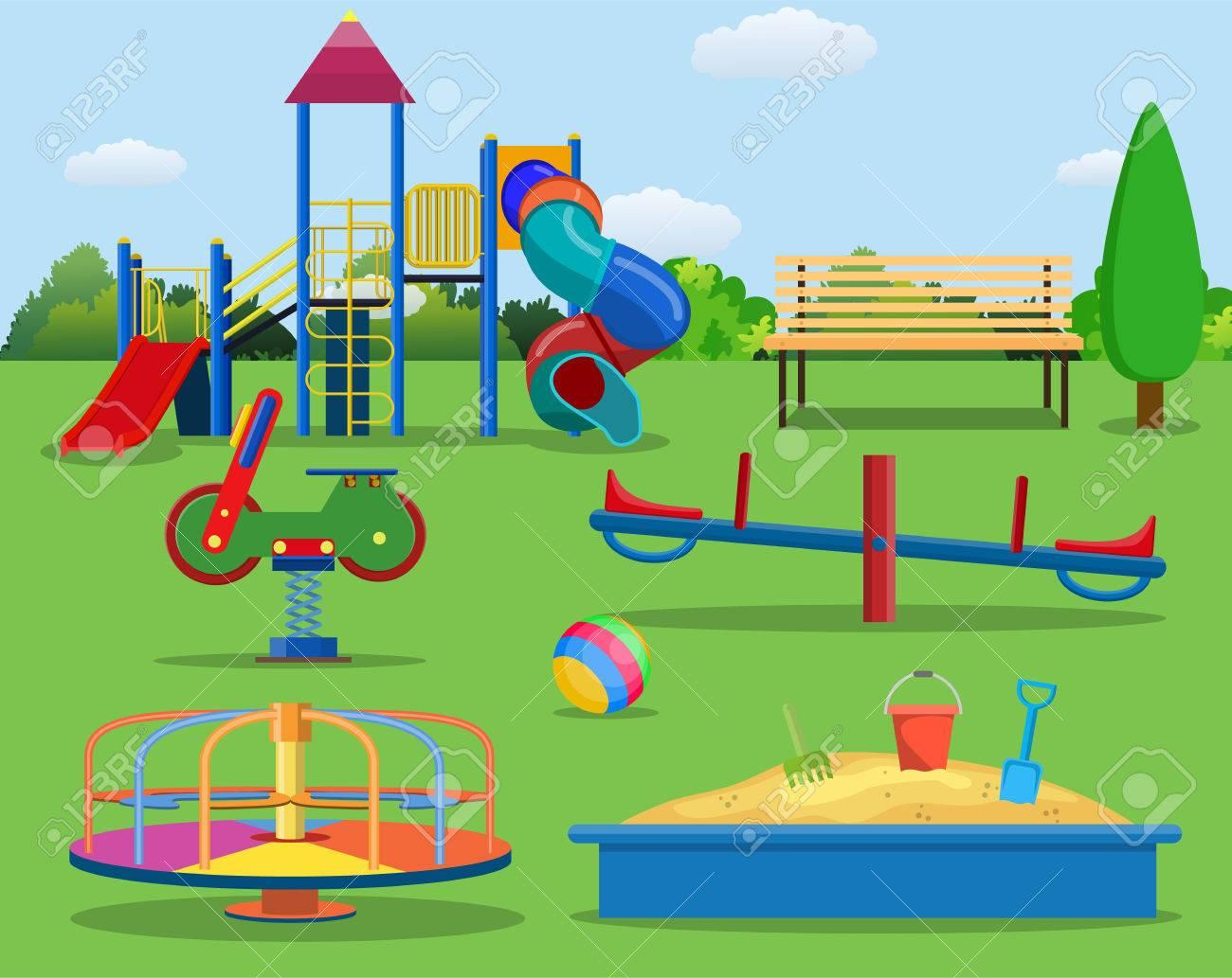Kids playground cartoon concept background. » Clipart Station.
