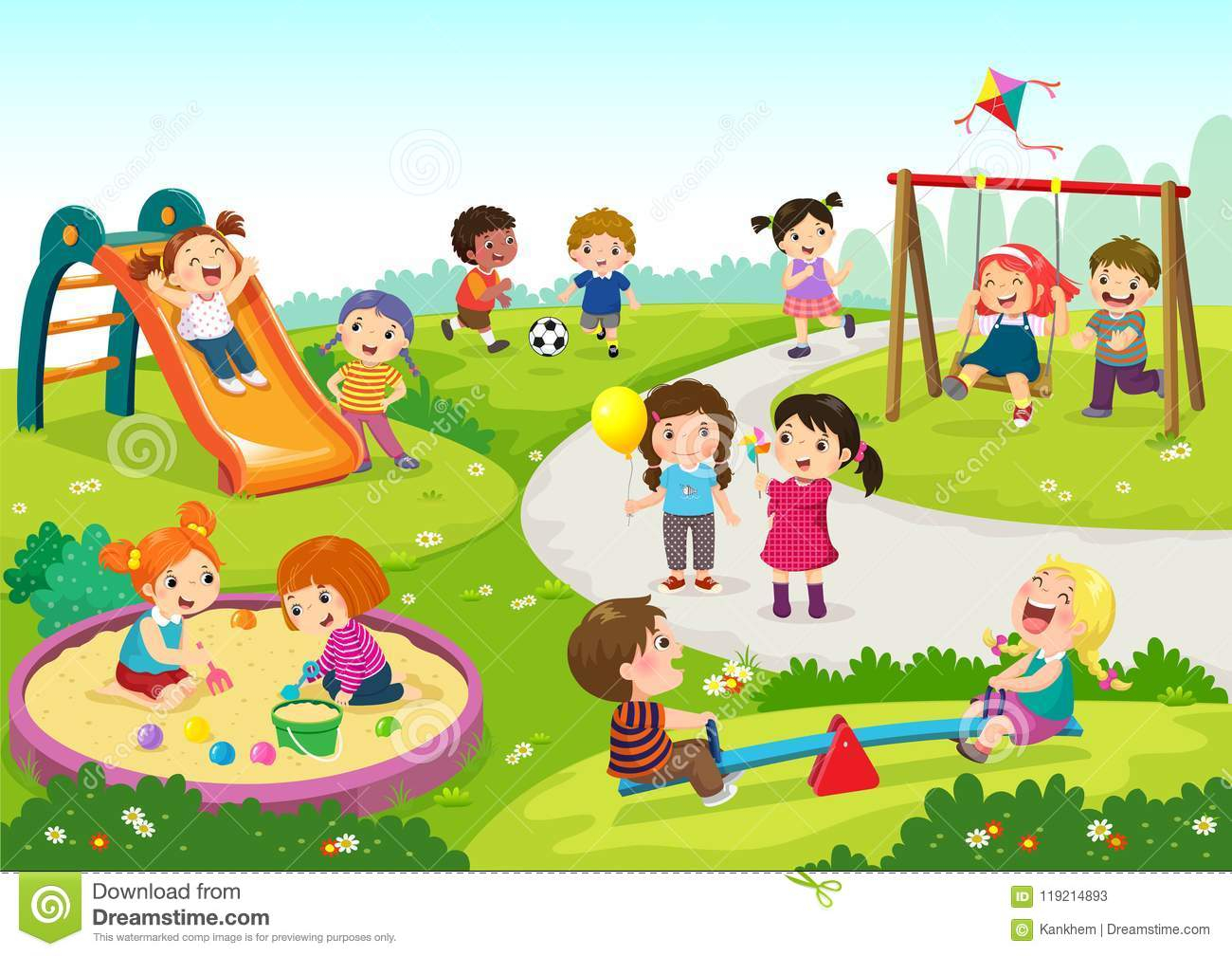 The Playground Clipart.