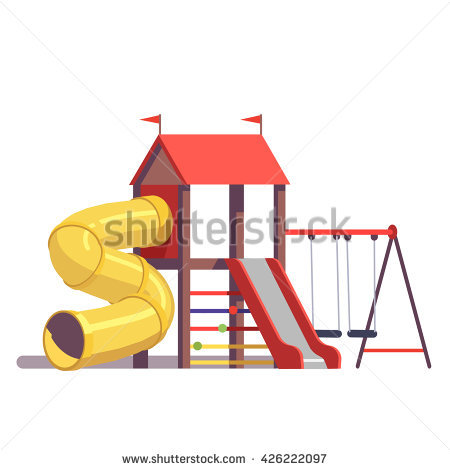 School Playground Stock Images, Royalty.