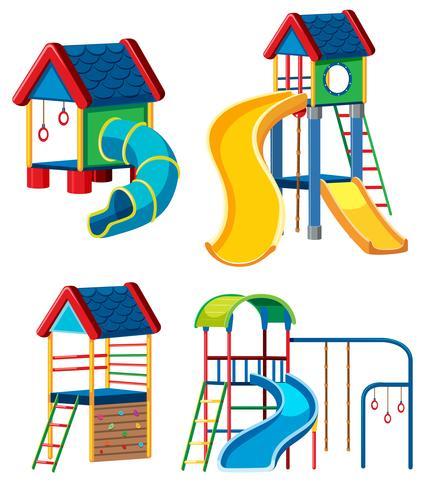 Set of playground equipment.