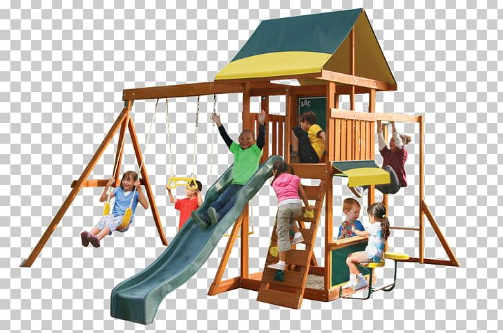 Swing Outdoor Playset Playground Slide Jungle Gym PNG.