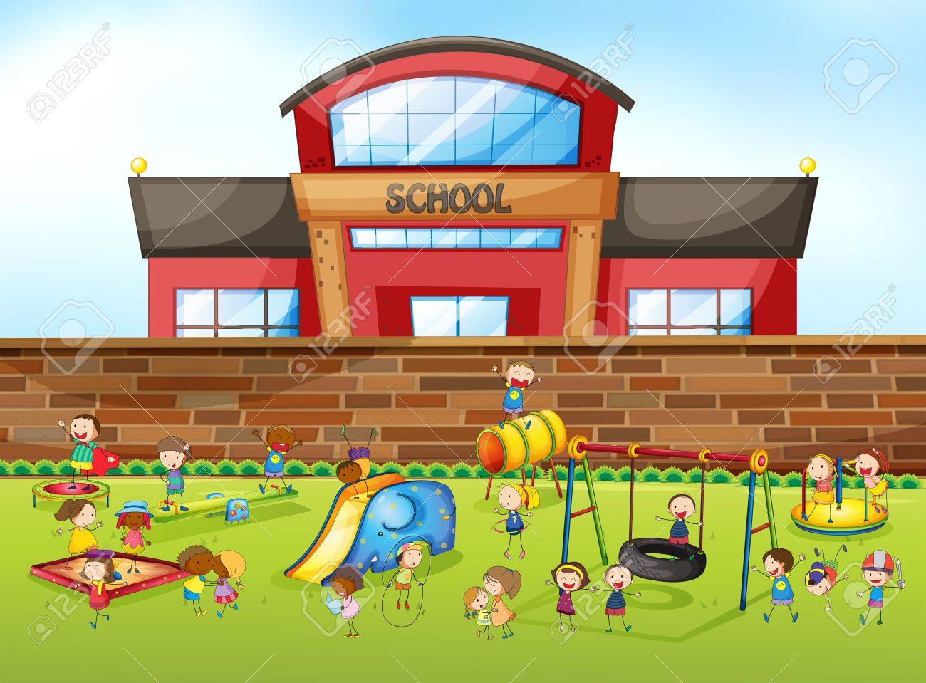School Playground Clipart Images.