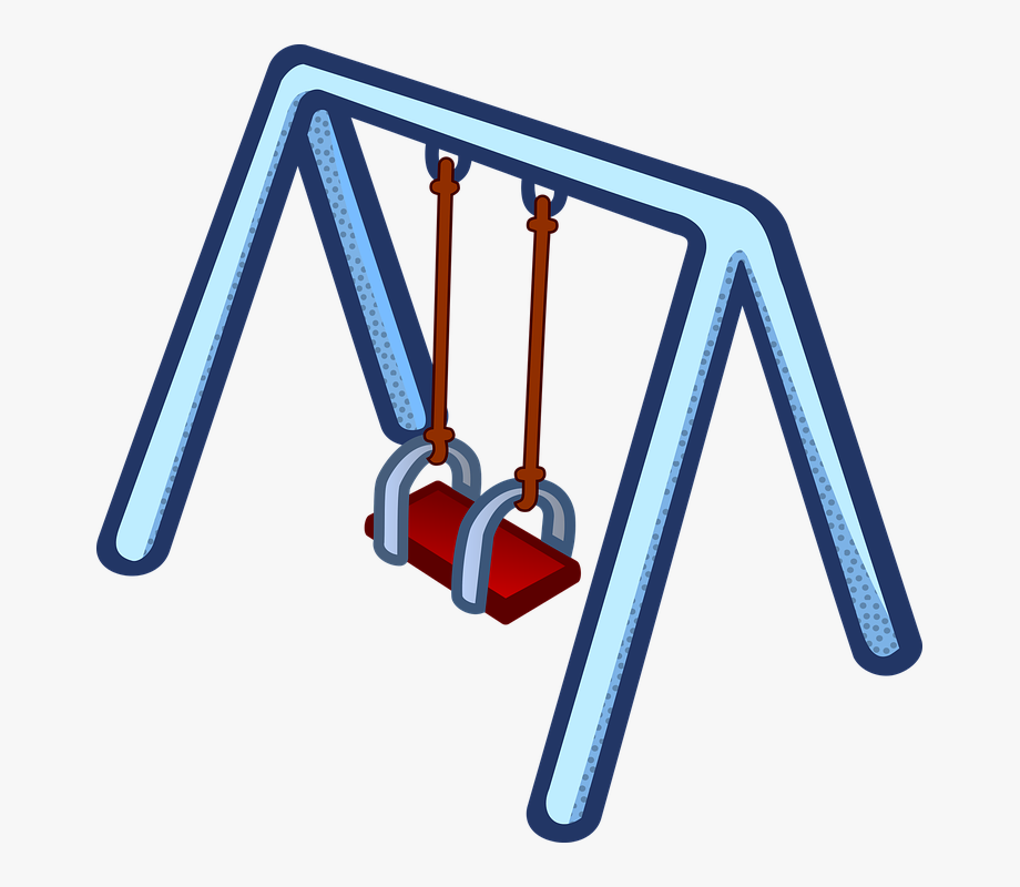 Children Play Kinder Playground Swing Toy.