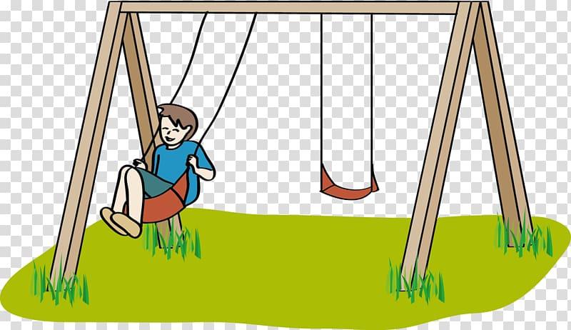 Playground Swing Cartoon , sprache transparent background.