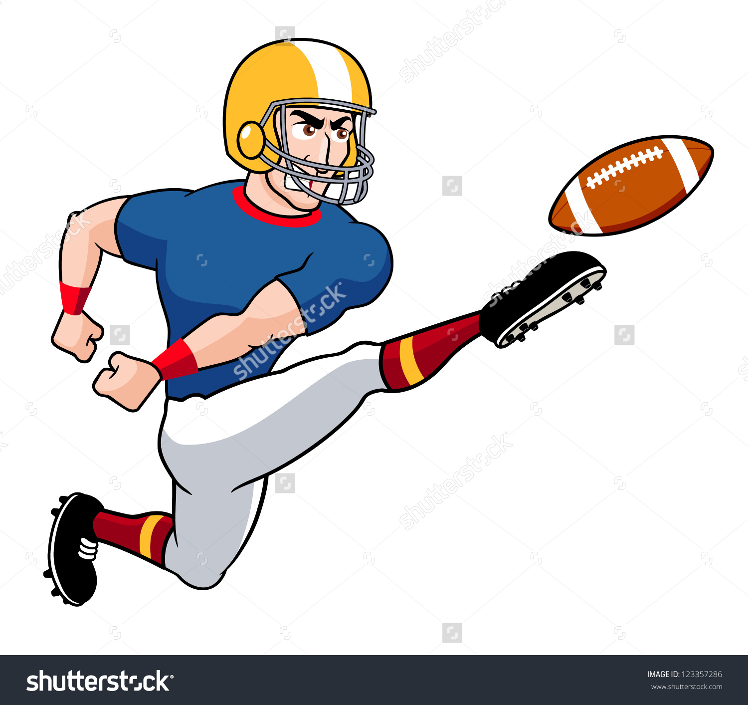 Playing American Football Clipart