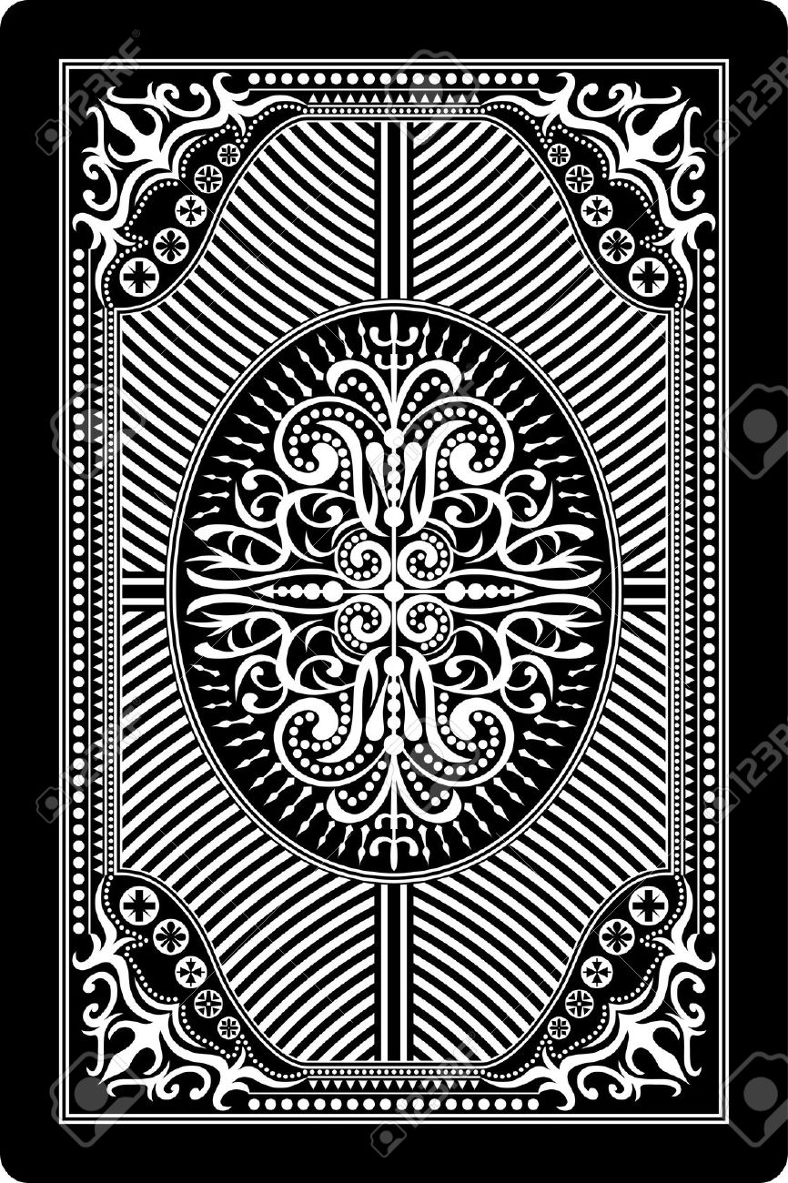 Playing Card Back Side 60x90 Mm Royalty Free Cliparts, Vectors.