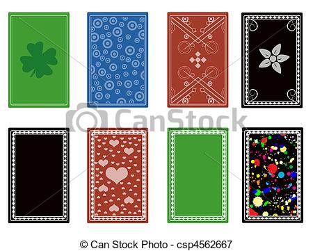 Vector Illustration of Playing cards back abstract design.