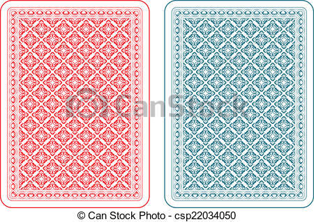 Clipart Vector of Playing cards back gamma.