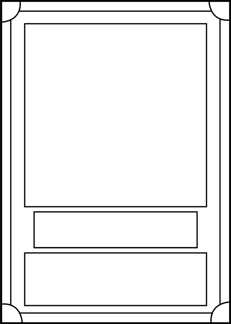 Trading Card Template Front by BlackCarrot1129 on DeviantArt.
