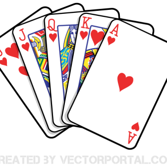Playing Card Vector Template.