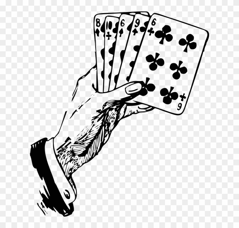 Cards Clipart Hand Holding.