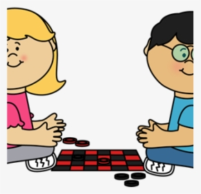 Children Playing Board Games Drawing, HD Png Download.