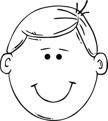 Child Outline Clipart.