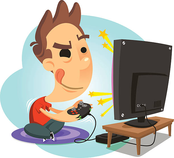 Playing video games clipart 1 » Clipart Station.