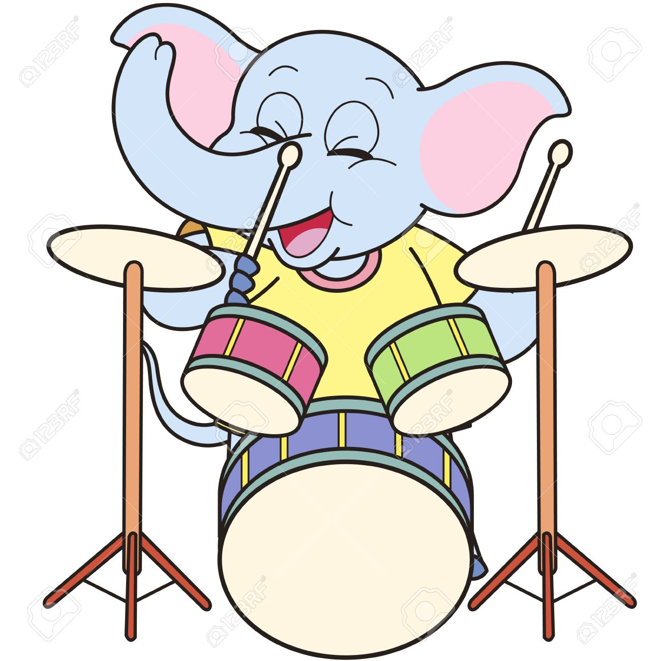 1,801 Playing Drums Stock Vector Illustration And Royalty Free.