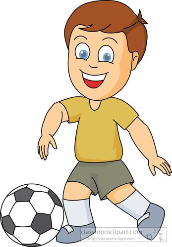Playing Football Clip Art.