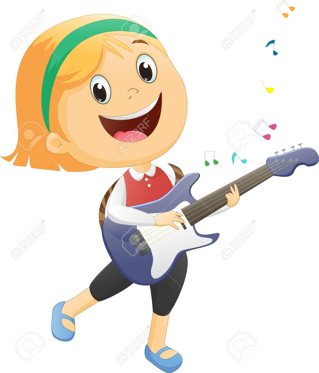 Girl playing guitar clipart 8 » Clipart Station.