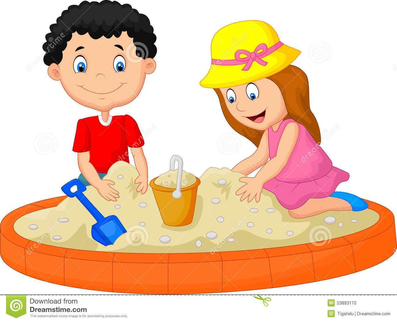 Sand and water play clipart.