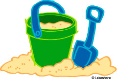 Playing in the sand clipart #10