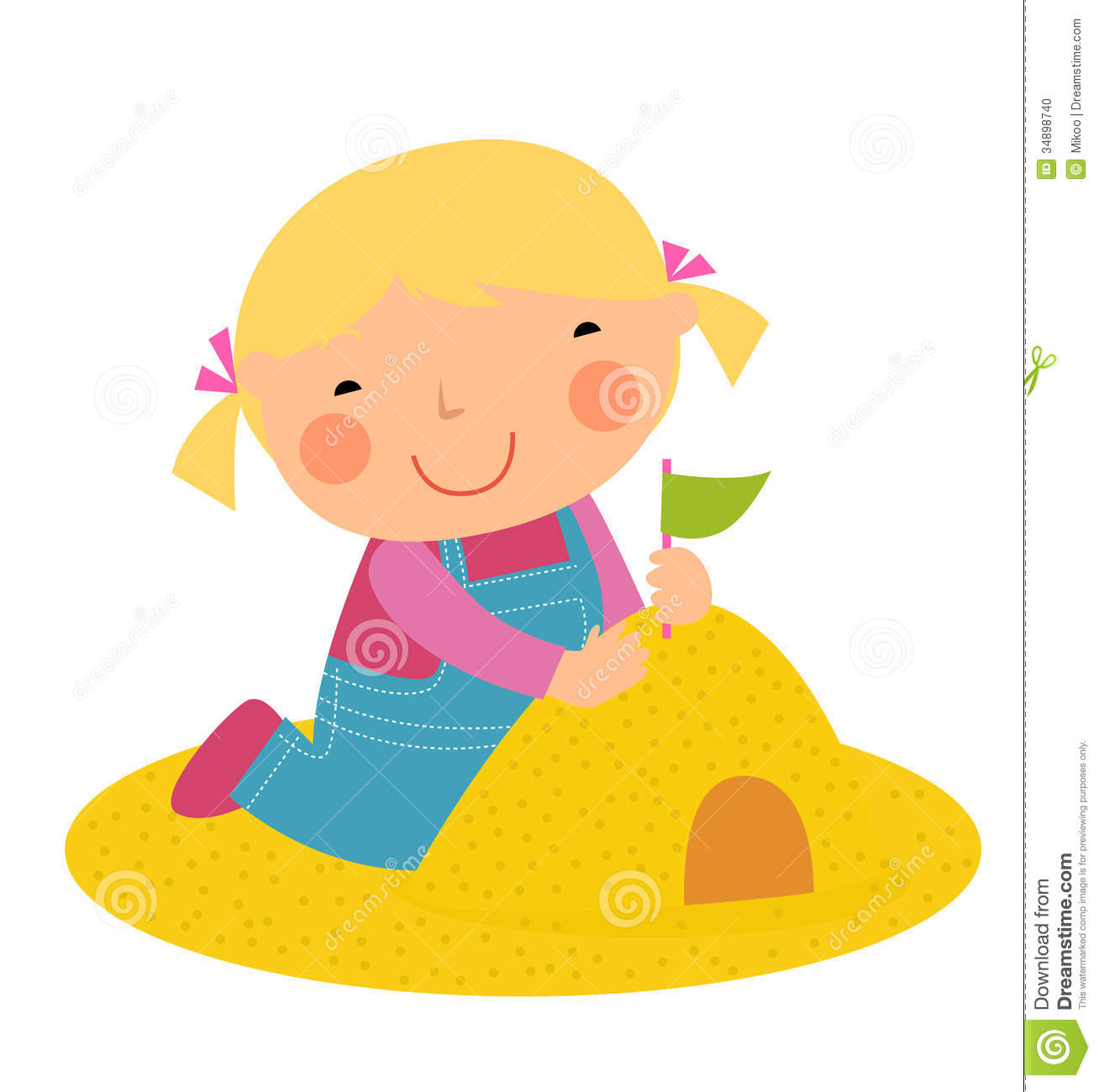 Art Girls Virtual Preschool: Playing In The Sand Clipart