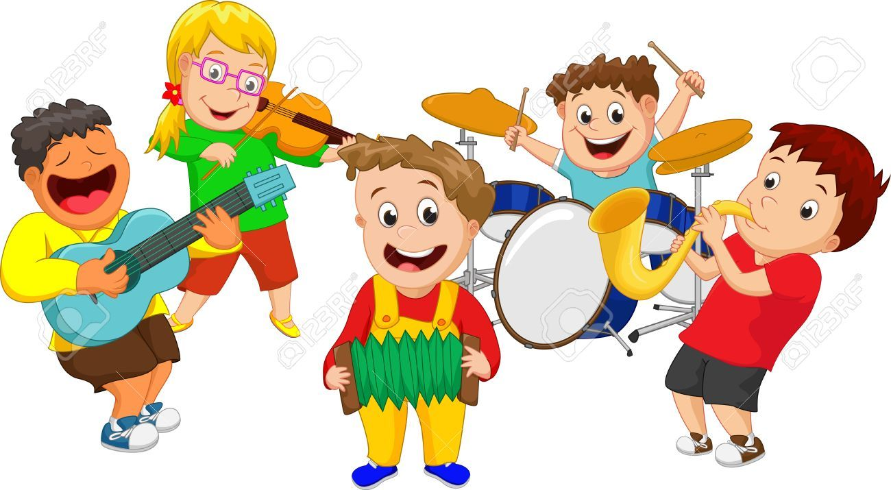 Kids playing musical instruments clipart 6 » Clipart Portal.