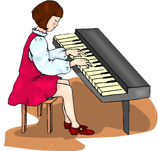 Play The Piano Clipart.
