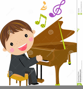 Free Clipart Child Playing Piano.