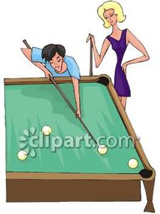 Pool Table Clipart.