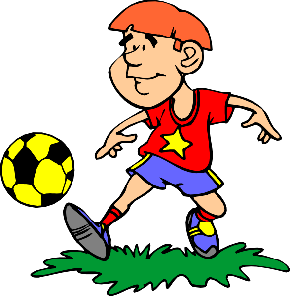 Playing Soccer Clipart.