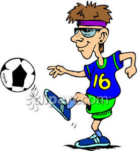 Playing soccer clipart #18