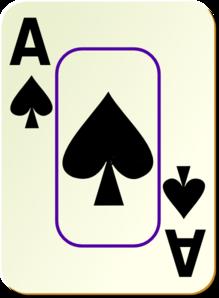 Bordered Ace Of Spades Clip Art at Clker.com.