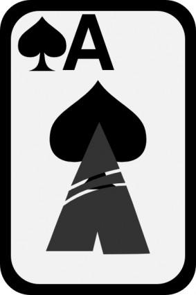 Free Ace Of Spades Clip Art.