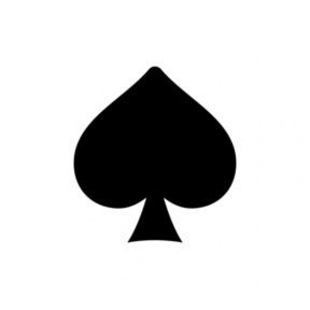 Showing post & media for Playing cards spade symbol.