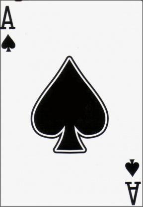 Clip Art Cards 5 Spades Clipart.