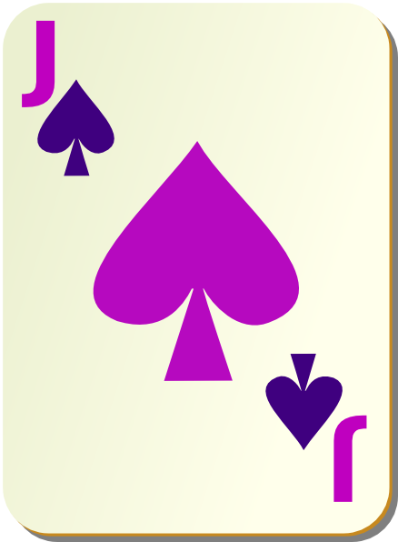 Playing Card Jack Of Spades Clip Art at Clker.com.