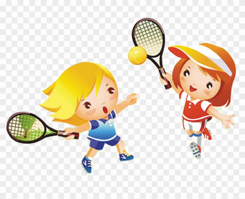 Tennis Girl Play Child Clip Art.