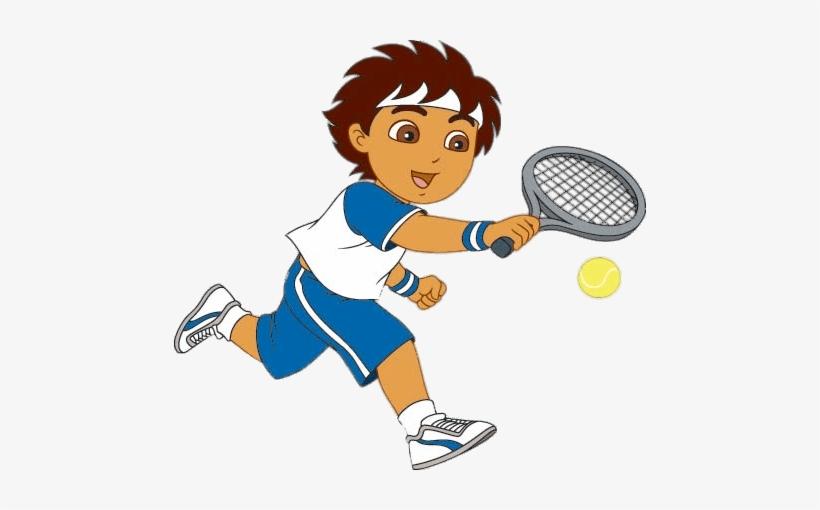 Diego Playing Tennis.