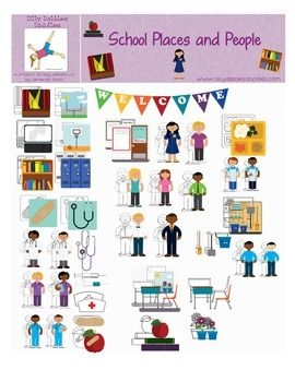 School Places Clipart.