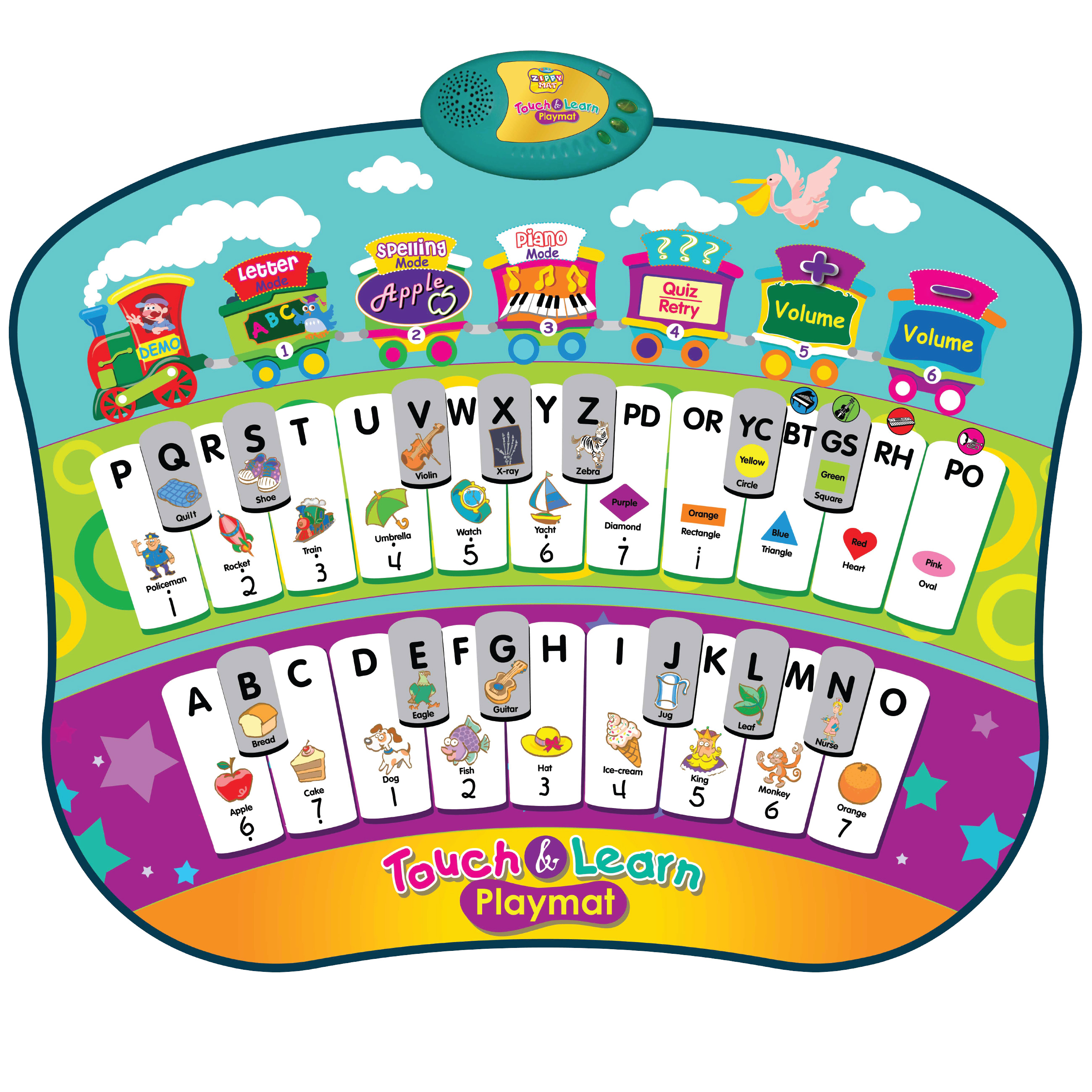 Kids Learn and Play Playmat ABC Music Piano Fun Dance Mat Great.